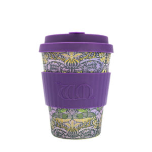 EcoffeeCup bamboebeker, coffee to go, paars