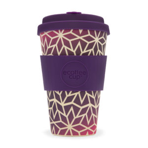 Ecoffeecup koffiebeker theebeker paars 400ml coffee to go